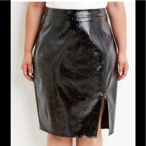 Forever 21 plus pvc midi skirt.....
